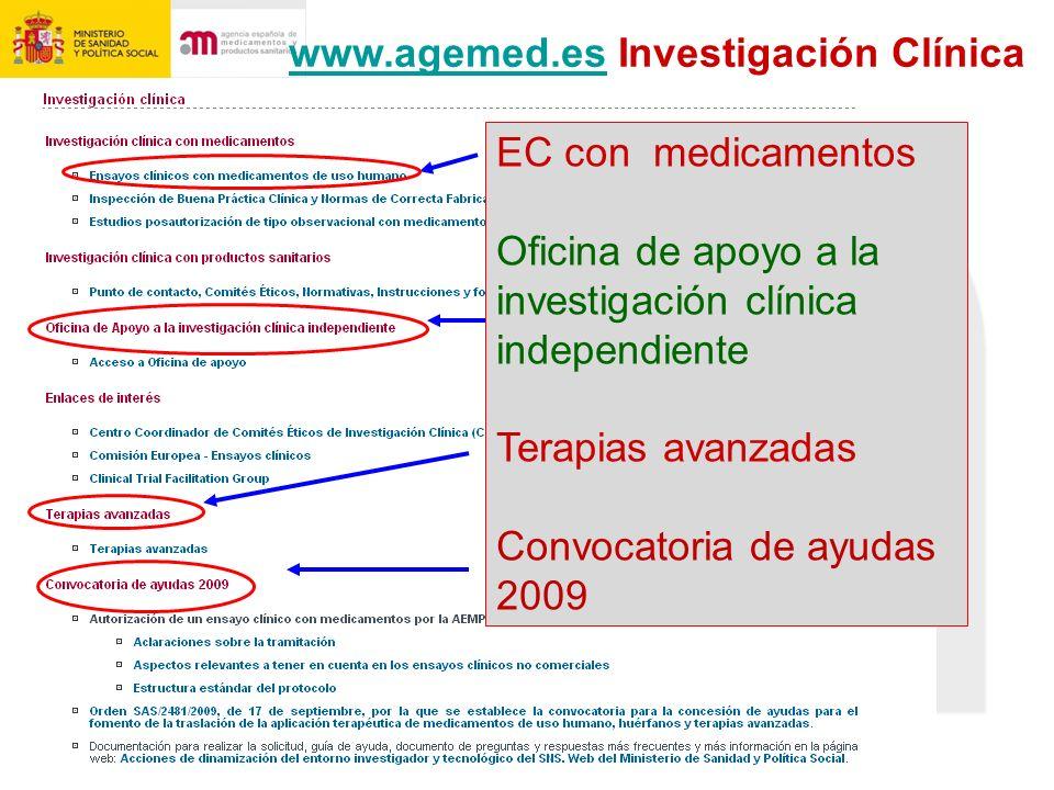 www.agemed.es Investigación Clínica