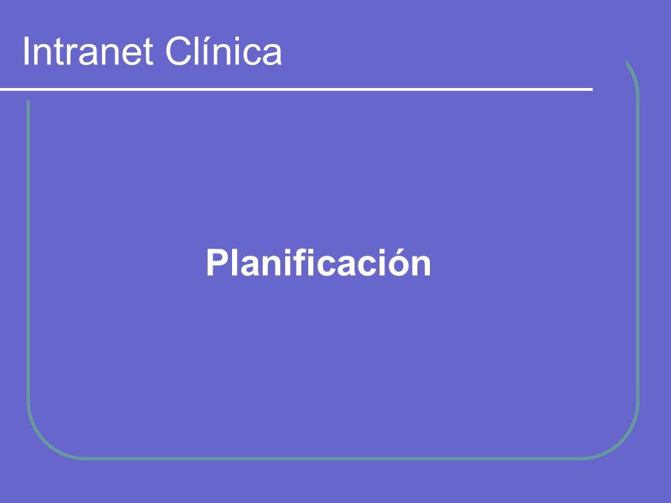 Intranet Clínica Planificación