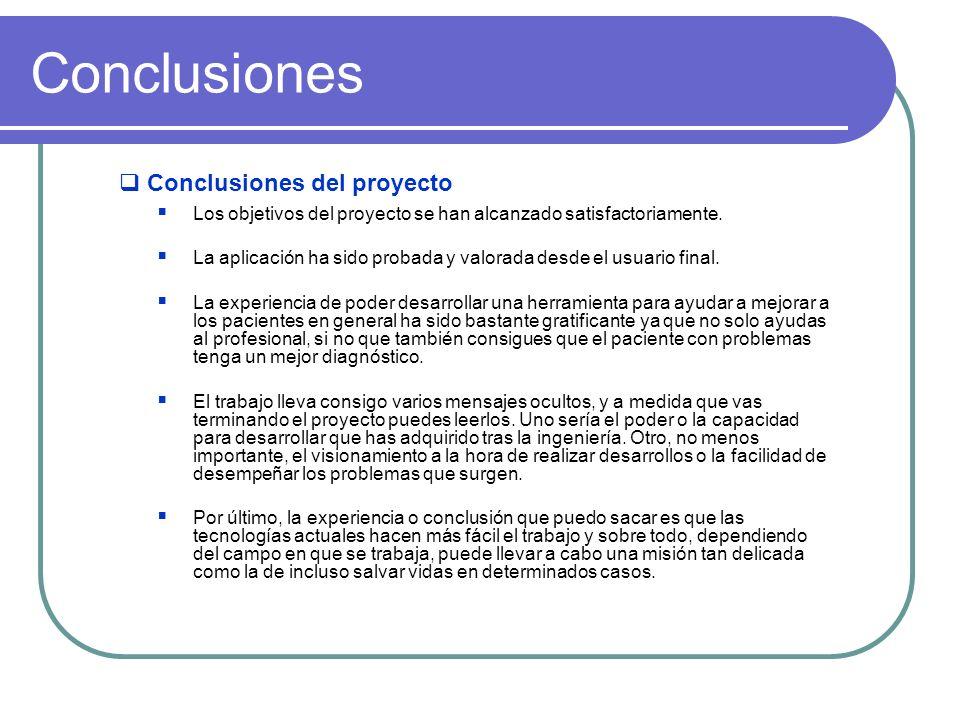 Conclusiones Conclusiones del proyecto