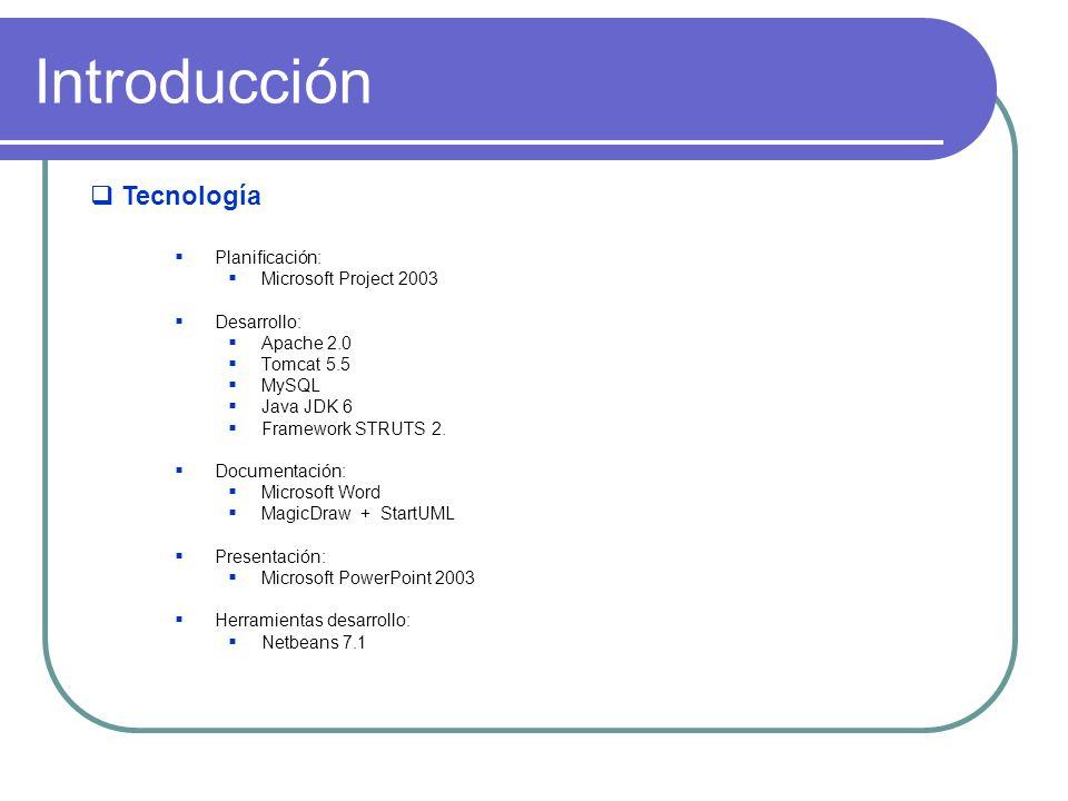 Introducción Tecnología Planificación: Microsoft Project 2003