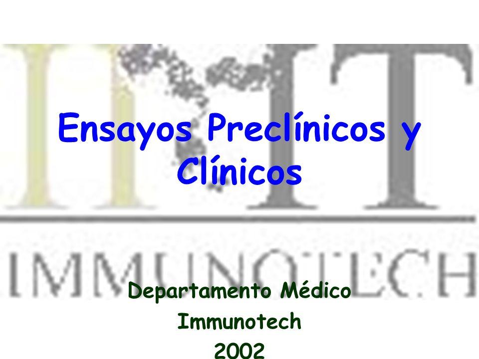 Ensayos Preclínicos y Clínicos