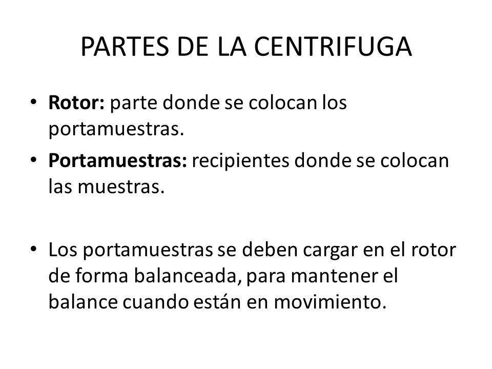 PARTES DE LA CENTRIFUGA