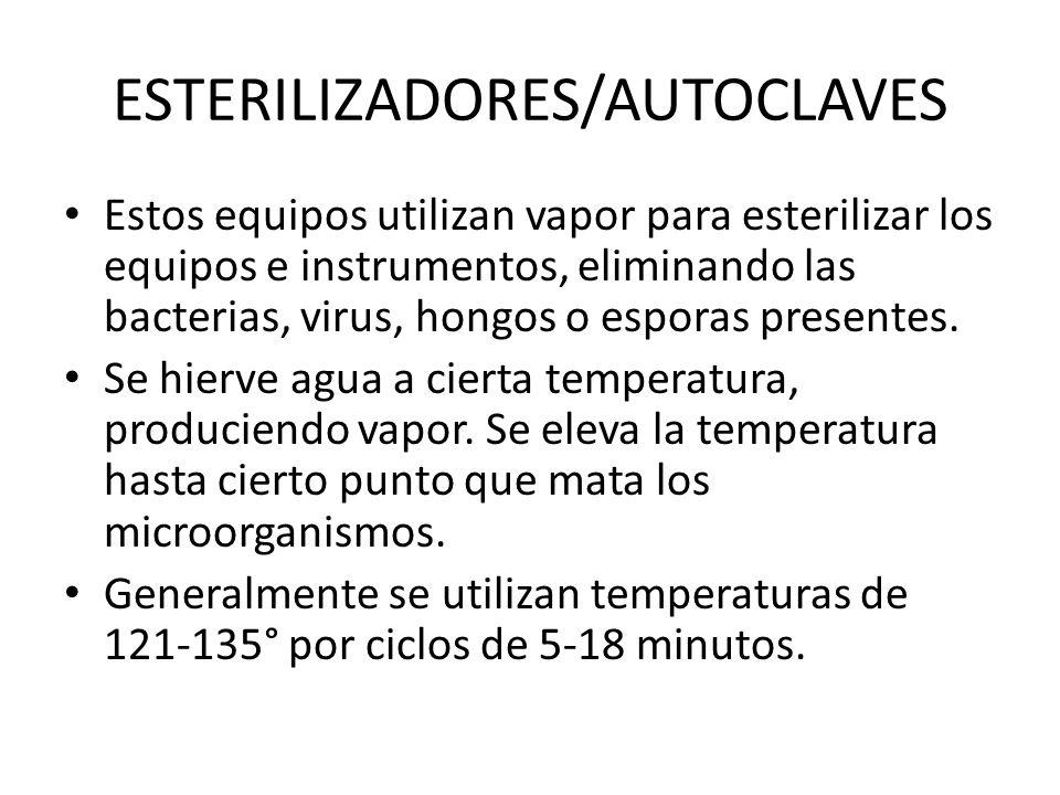 ESTERILIZADORES/AUTOCLAVES