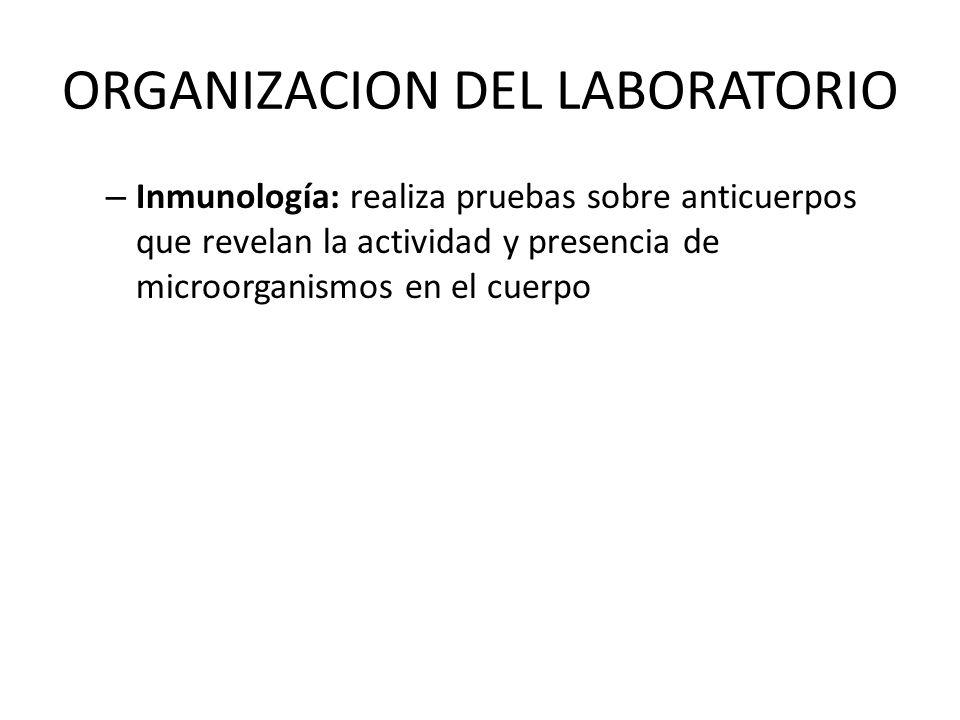 ORGANIZACION DEL LABORATORIO