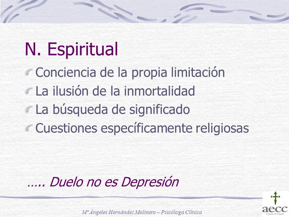 N. Espiritual Conciencia de la propia limitación