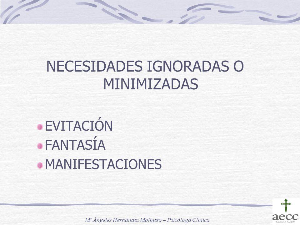 NECESIDADES IGNORADAS O MINIMIZADAS
