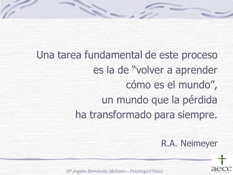Una tarea fundamental de este proceso es la de volver a aprender