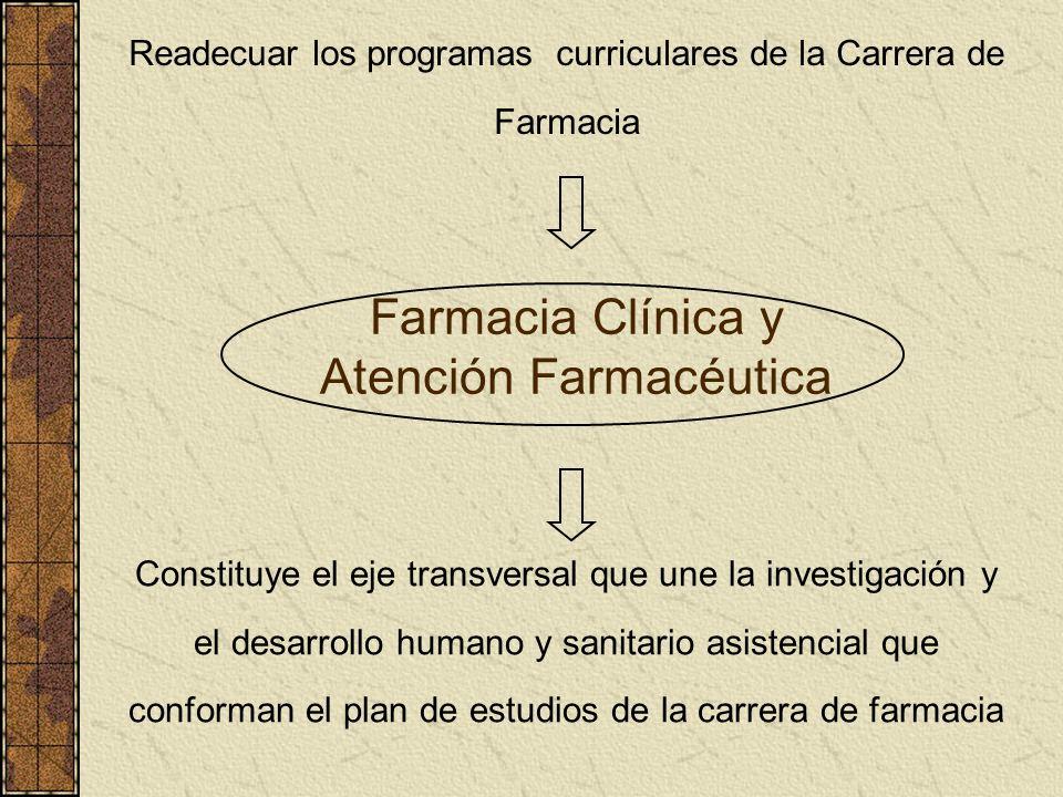 Farmacia Clínica y Atención Farmacéutica