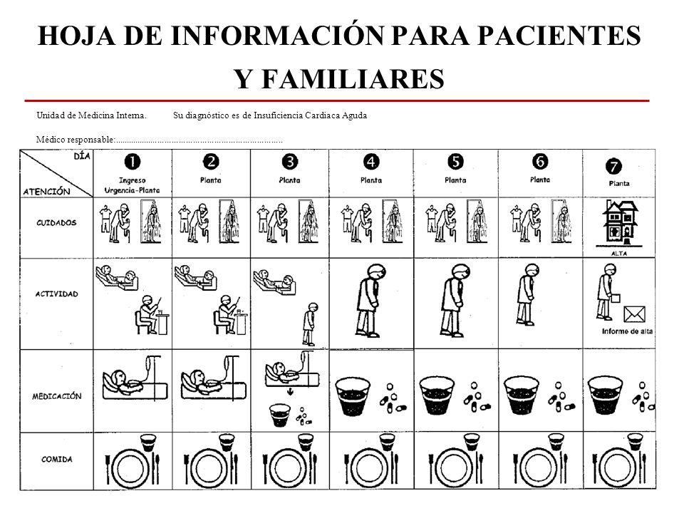 HOJA DE INFORMACIÓN PARA PACIENTES Y FAMILIARES