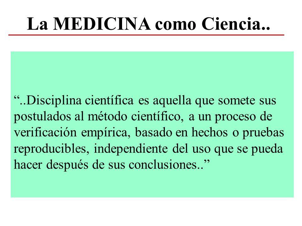 La MEDICINA como Ciencia..
