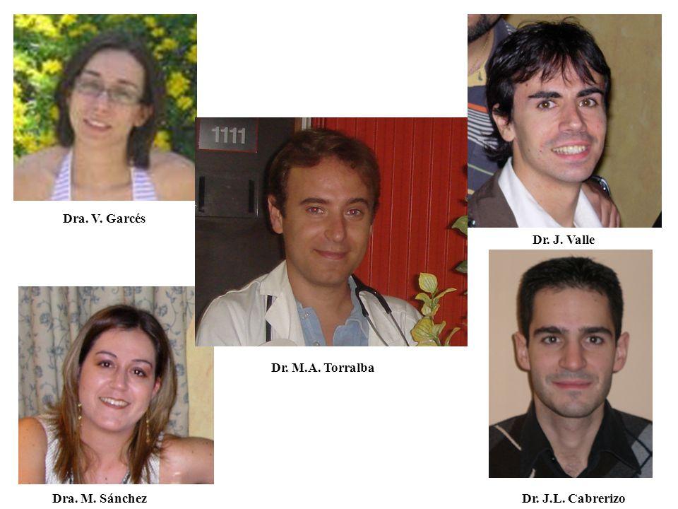 Dra. V. Garcés Dr. J. Valle Dr. J. Valle Dr. M.A. Torralba Dra. M. Sánchez Dr. J.L. Cabrerizo