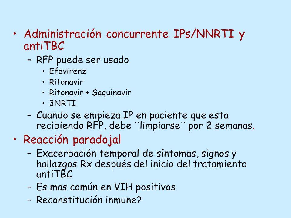 Administración concurrente IPs/NNRTI y antiTBC