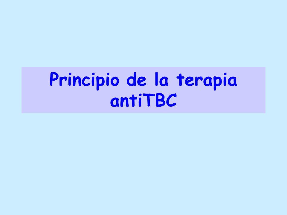 Principio de la terapia antiTBC
