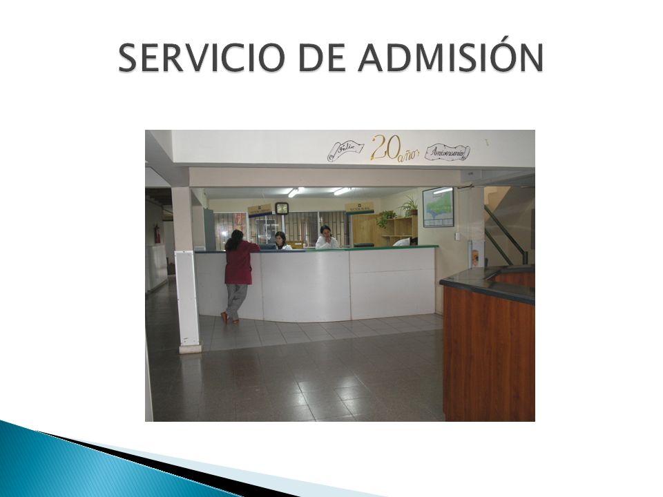 SERVICIO DE ADMISIÓN
