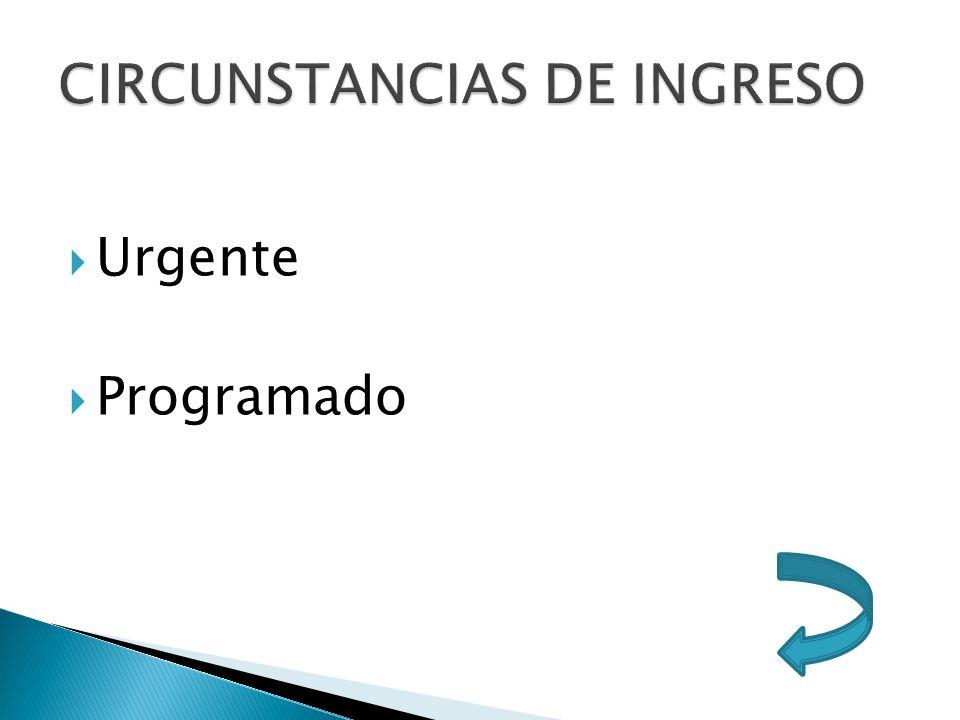 CIRCUNSTANCIAS DE INGRESO