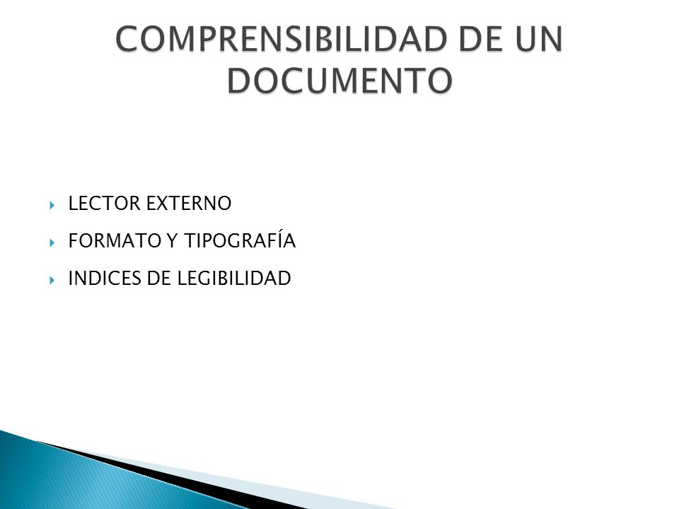COMPRENSIBILIDAD DE UN DOCUMENTO