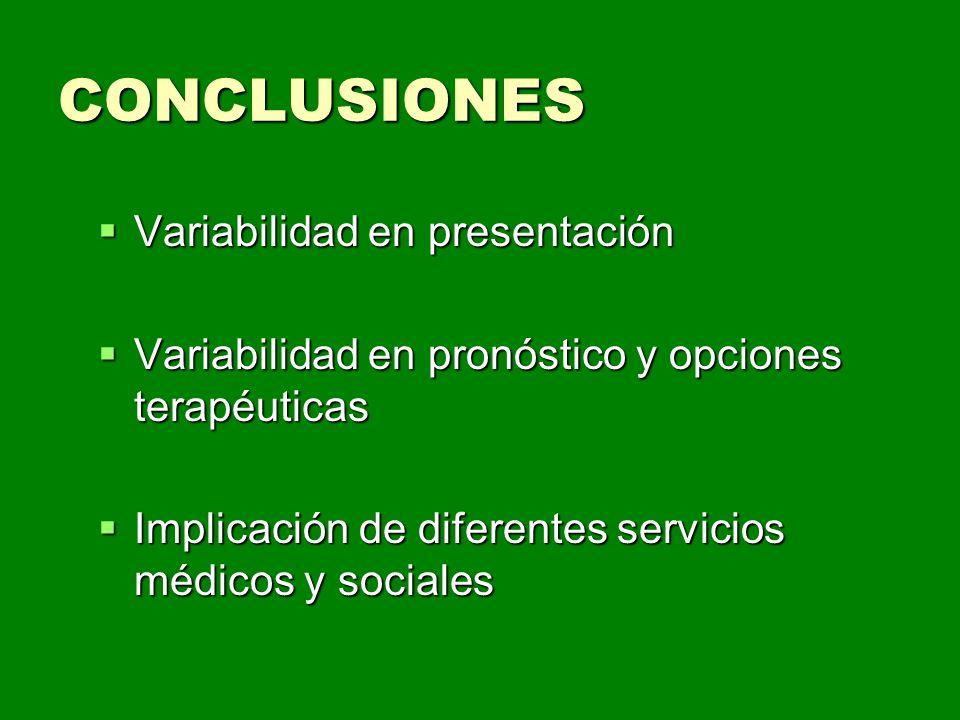 CONCLUSIONES Variabilidad en presentación