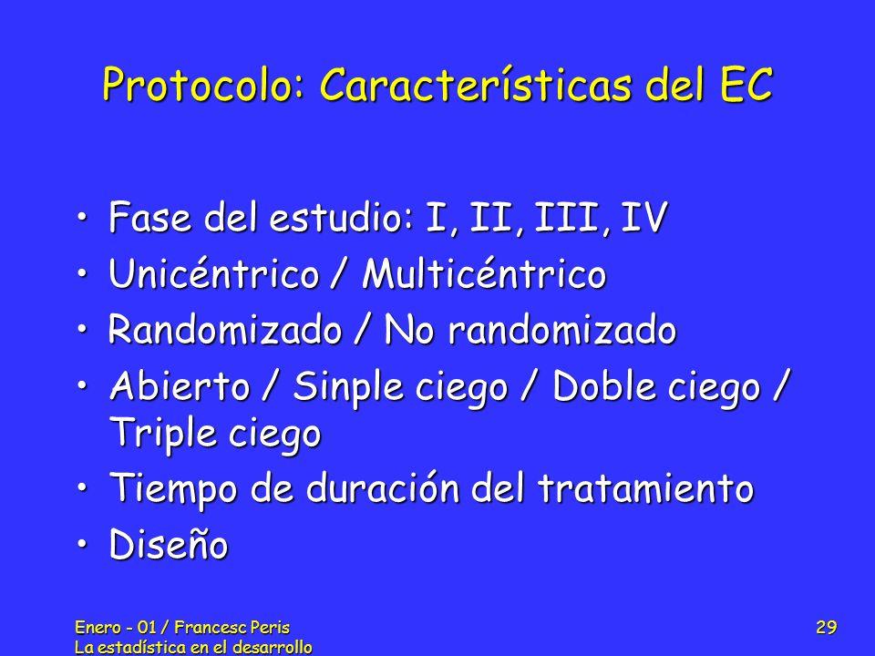 Protocolo: Características del EC
