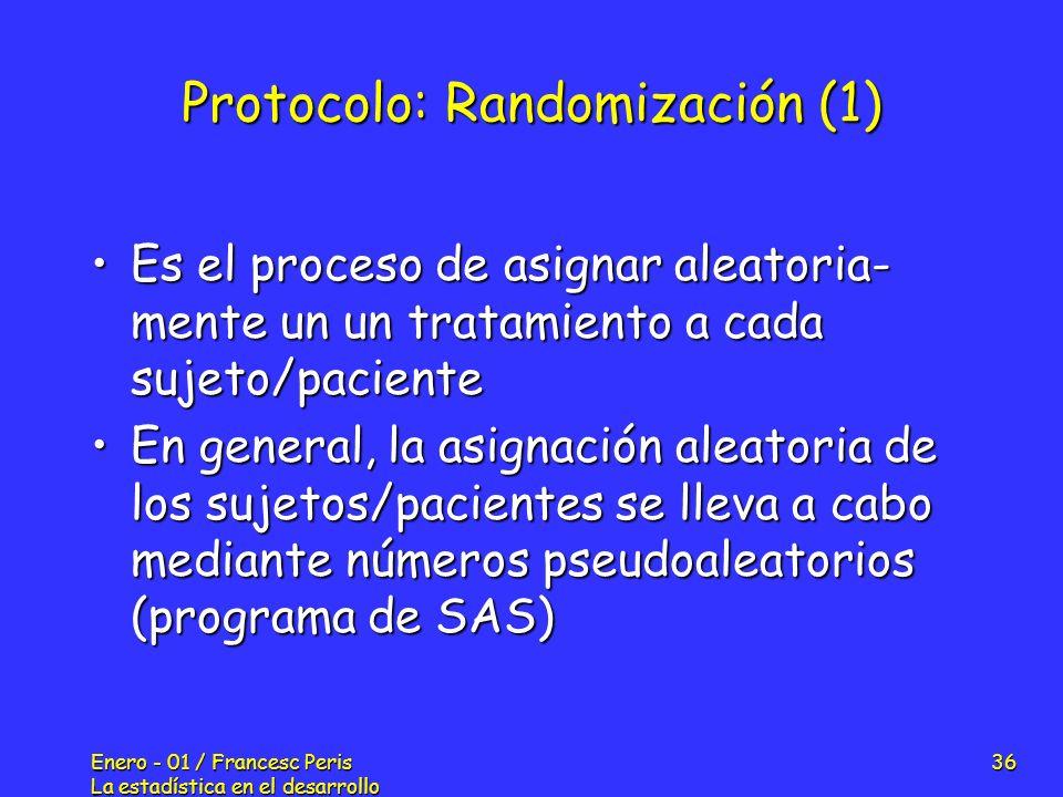 Protocolo: Randomización (1)