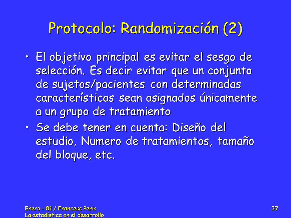 Protocolo: Randomización (2)