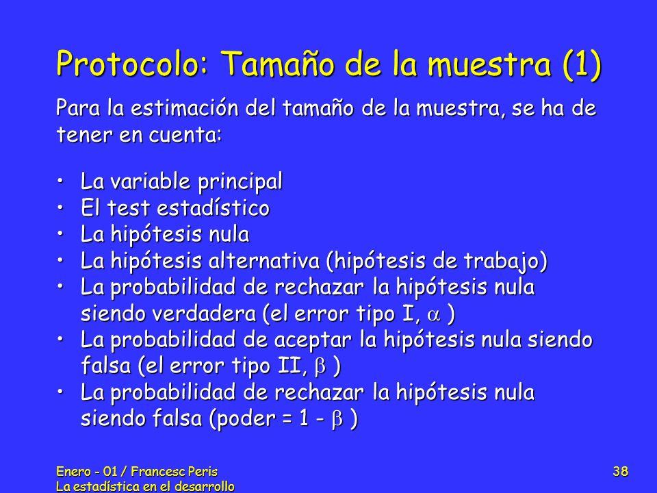 Protocolo: Tamaño de la muestra (1)
