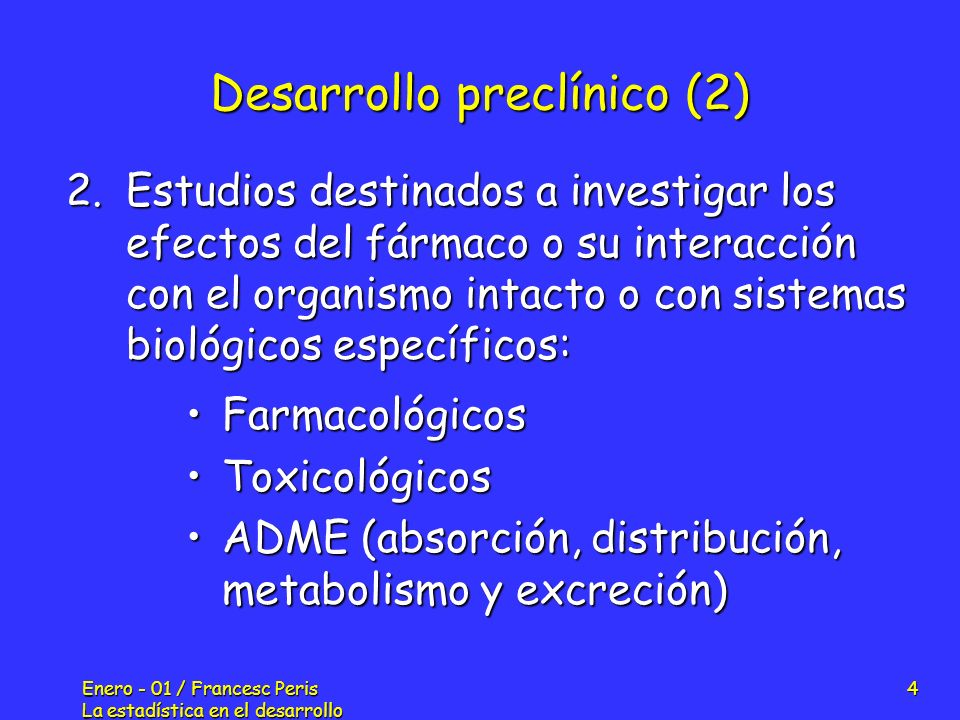 Desarrollo preclínico (2)