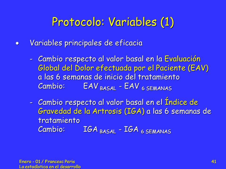 Protocolo: Variables (1)