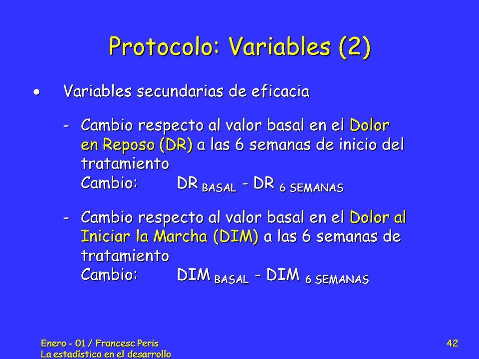Protocolo: Variables (2)