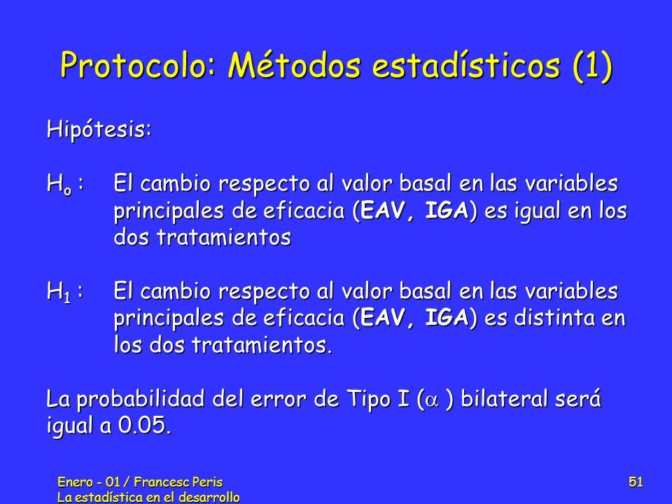 Protocolo: Métodos estadísticos (1)