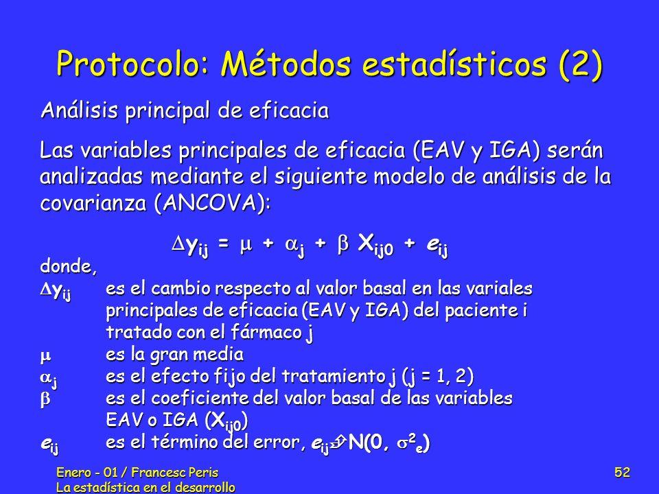 Protocolo: Métodos estadísticos (2)
