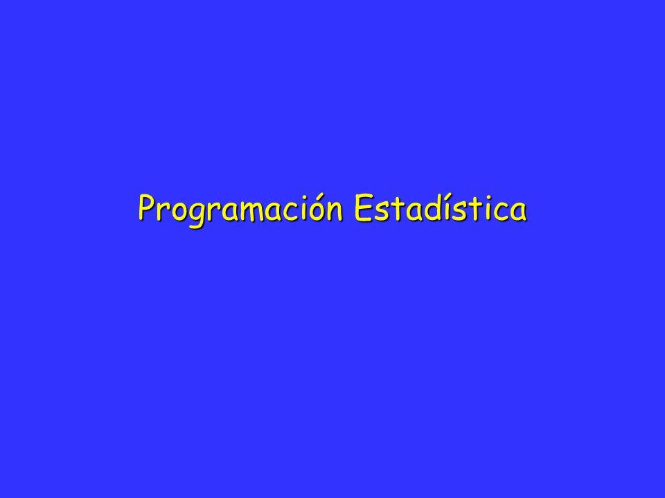 Programación Estadística