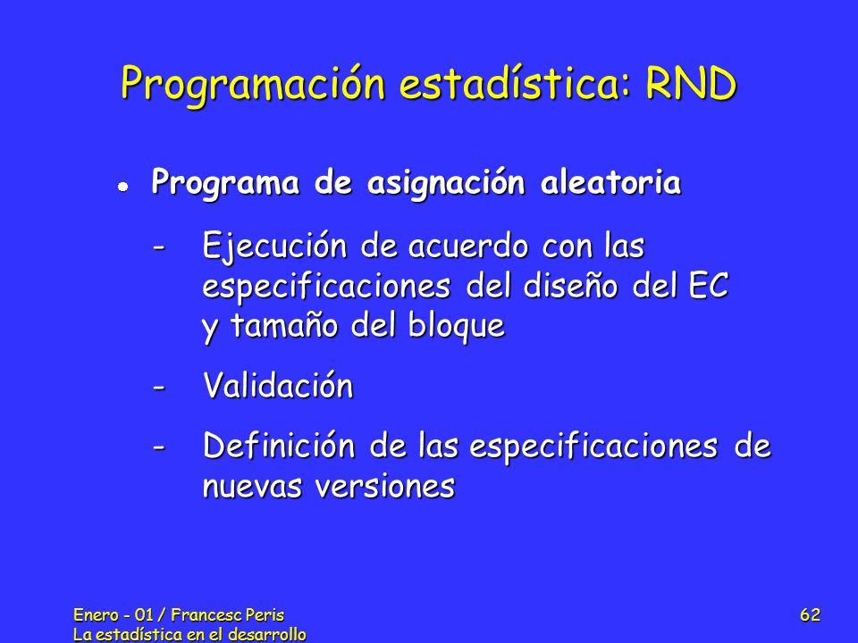 Programación estadística: RND