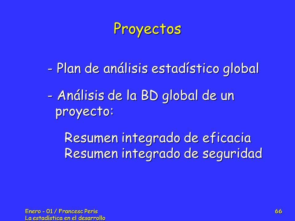 Proyectos - Plan de análisis estadístico global
