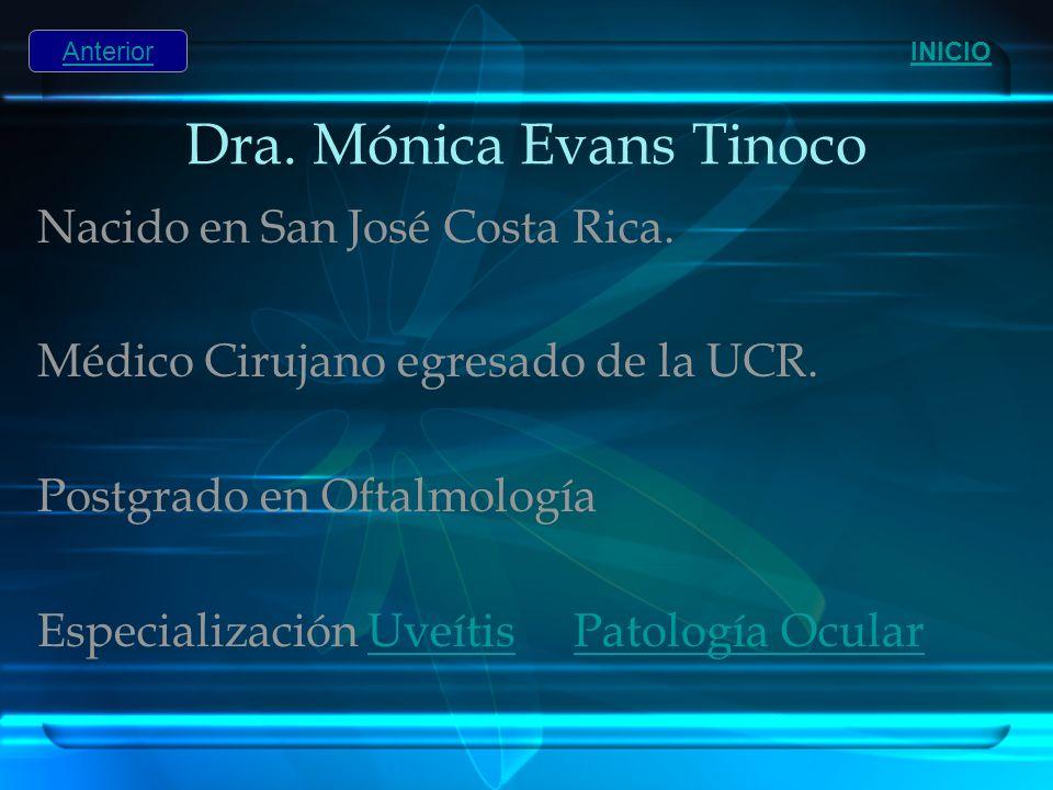 Dra. Mónica Evans Tinoco