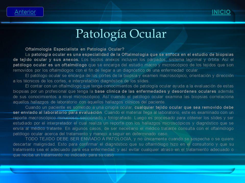 Patología Ocular Anterior INICIO