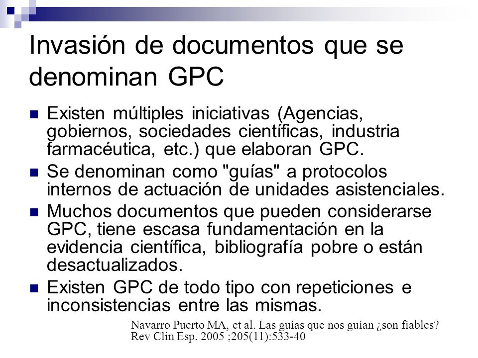 Invasión de documentos que se denominan GPC