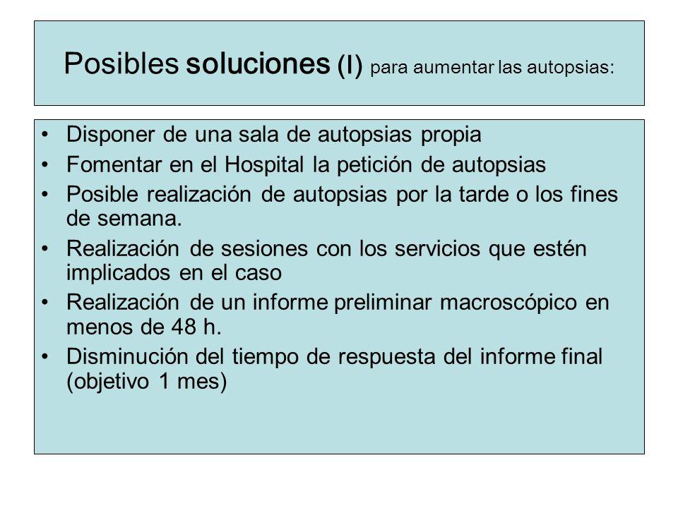 Posibles soluciones (I) para aumentar las autopsias: