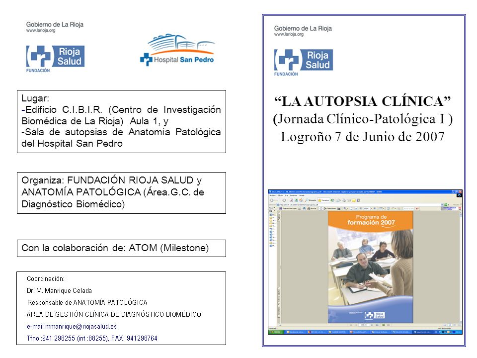 LA AUTOPSIA CLÍNICA (Jornada Clínico-Patológica I ) Logroño 7 de Junio de 2007