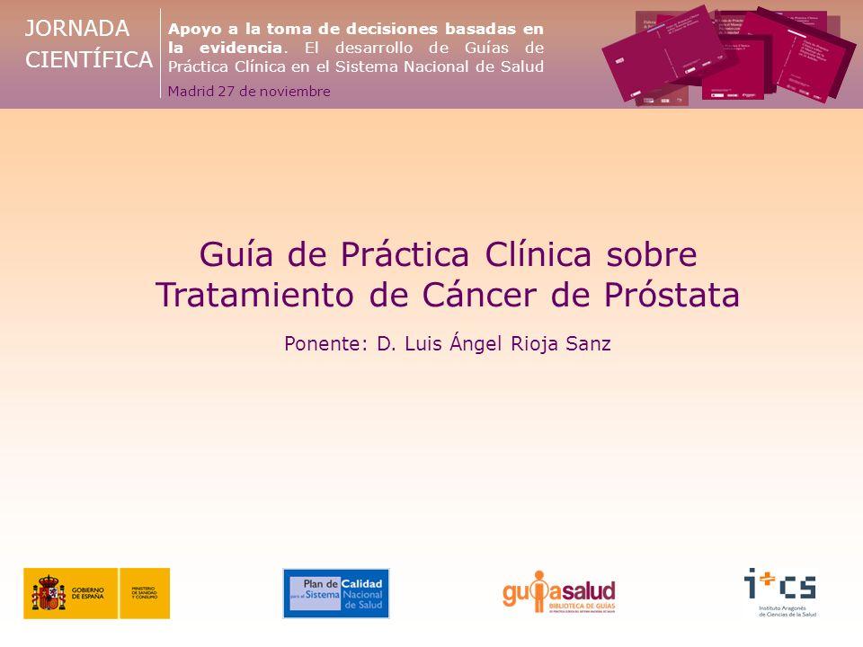 Guía de Práctica Clínica sobre Tratamiento de Cáncer de Próstata