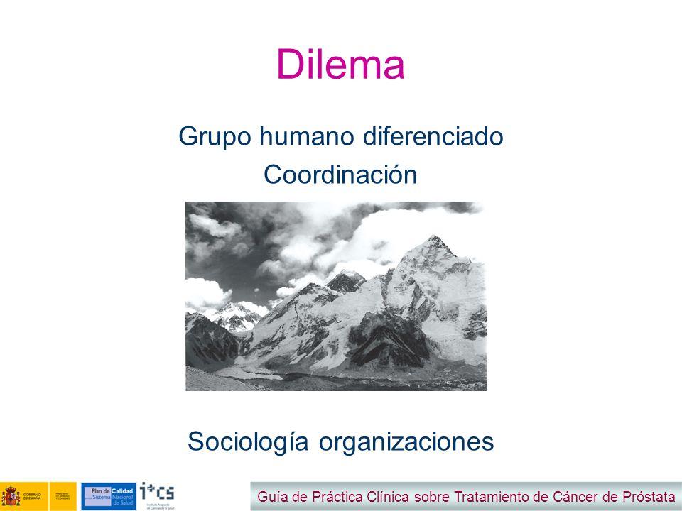 Dilema Grupo humano diferenciado Coordinación