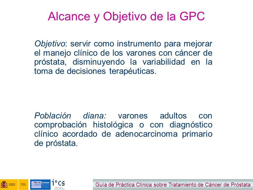 Alcance y Objetivo de la GPC