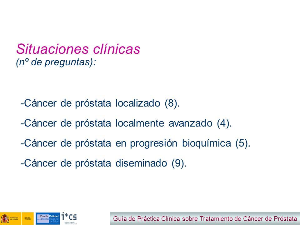 Situaciones clínicas (nº de preguntas):