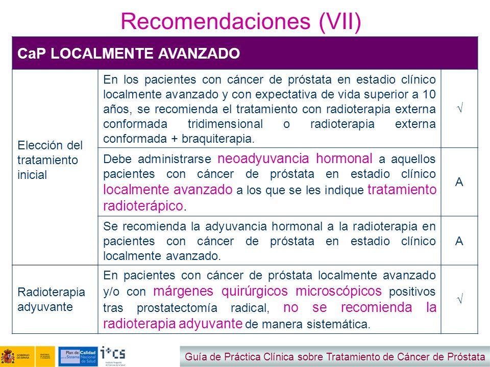 Recomendaciones (VII)