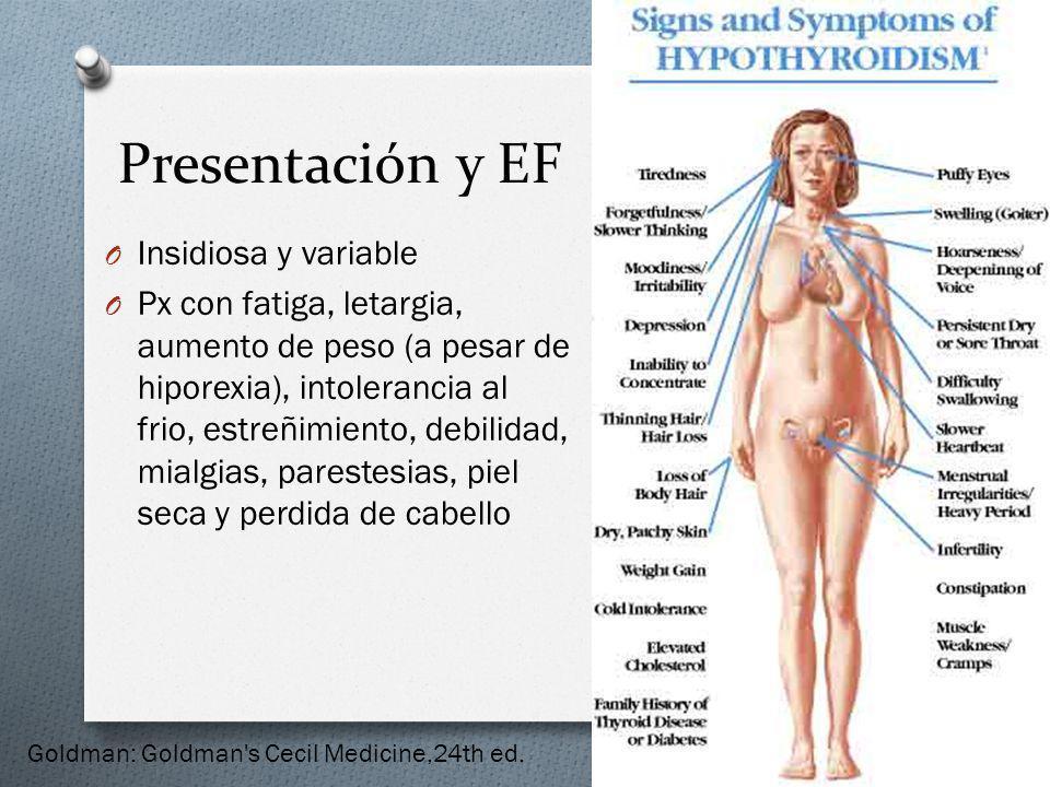 Presentación y EF Insidiosa y variable