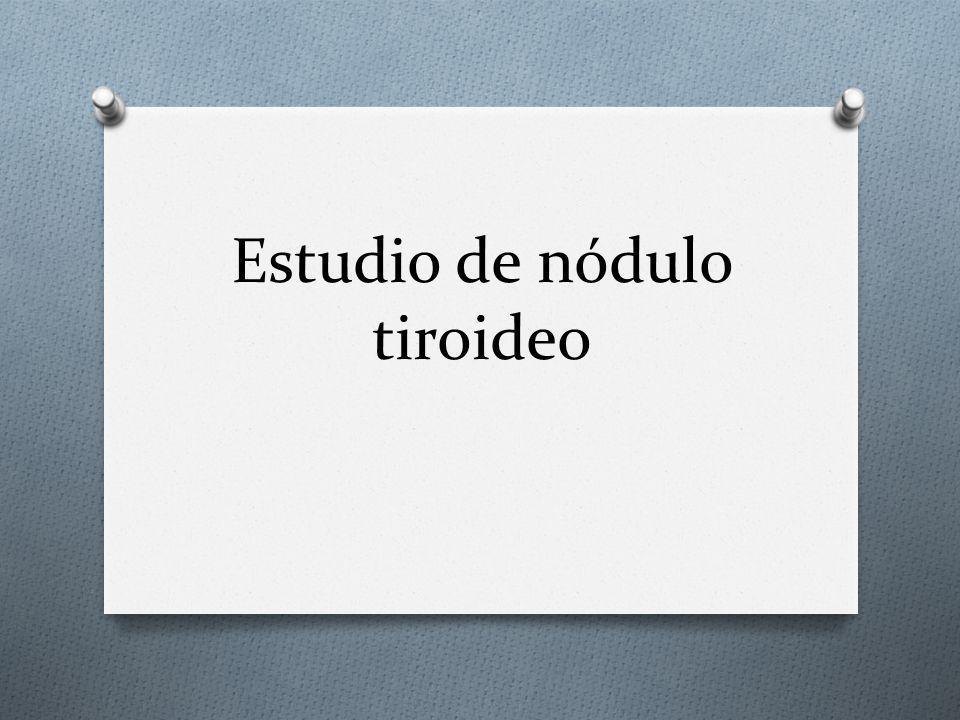 Estudio de nódulo tiroideo