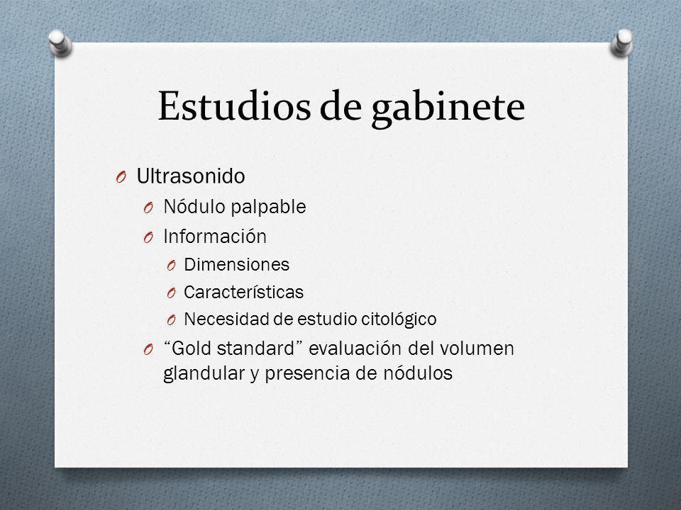 Estudios de gabinete Ultrasonido Nódulo palpable Información