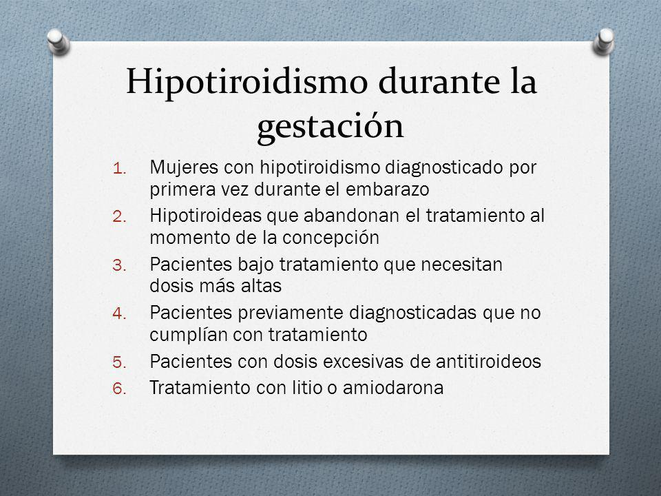Hipotiroidismo durante la gestación