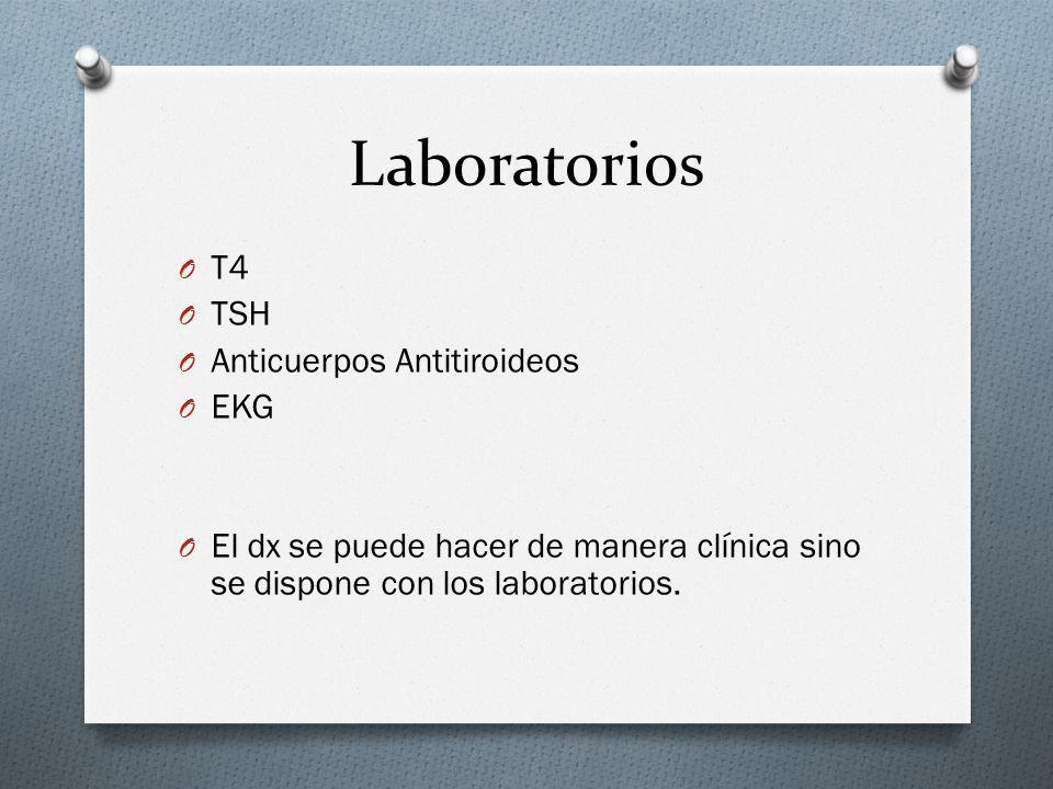 Laboratorios T4 TSH Anticuerpos Antitiroideos EKG