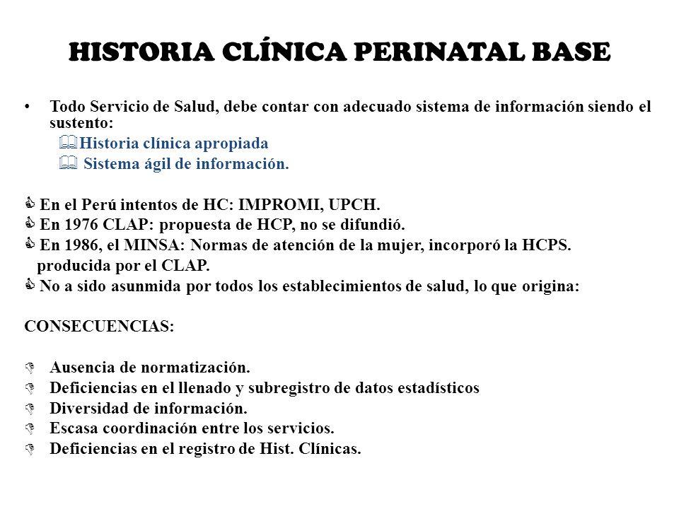 HISTORIA CLÍNICA PERINATAL BASE