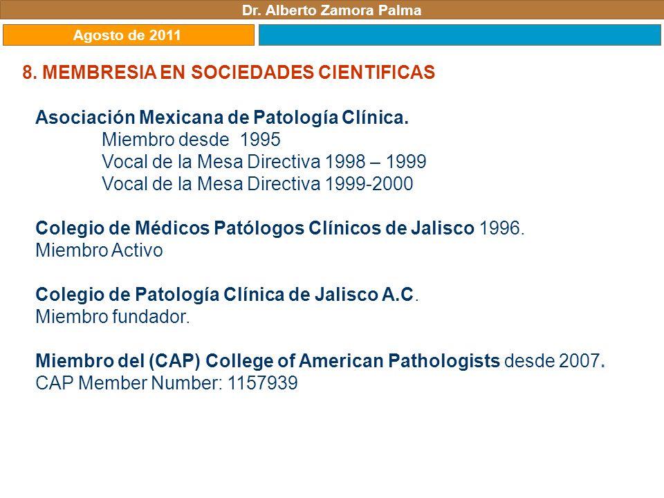 Dr. Alberto Zamora Palma